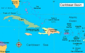 Claudia feat map caribbean CLR