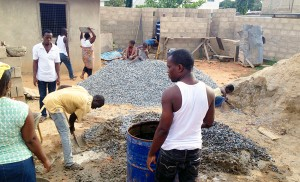 The Ghana SDB congregation has sacrificed time and funds to build a solid worship facility.