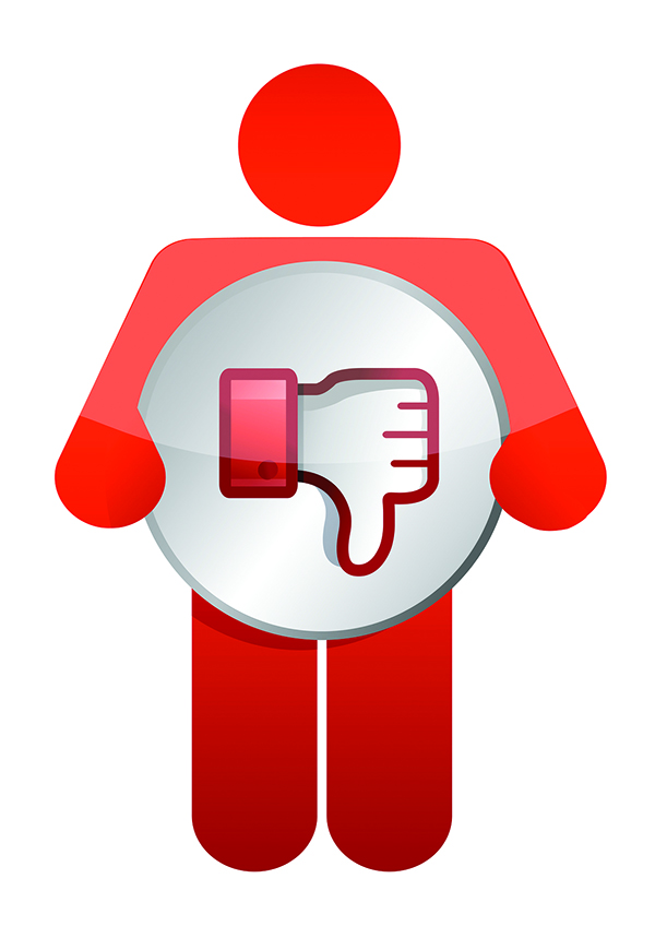 icon dislike thumbs down illustration design over white