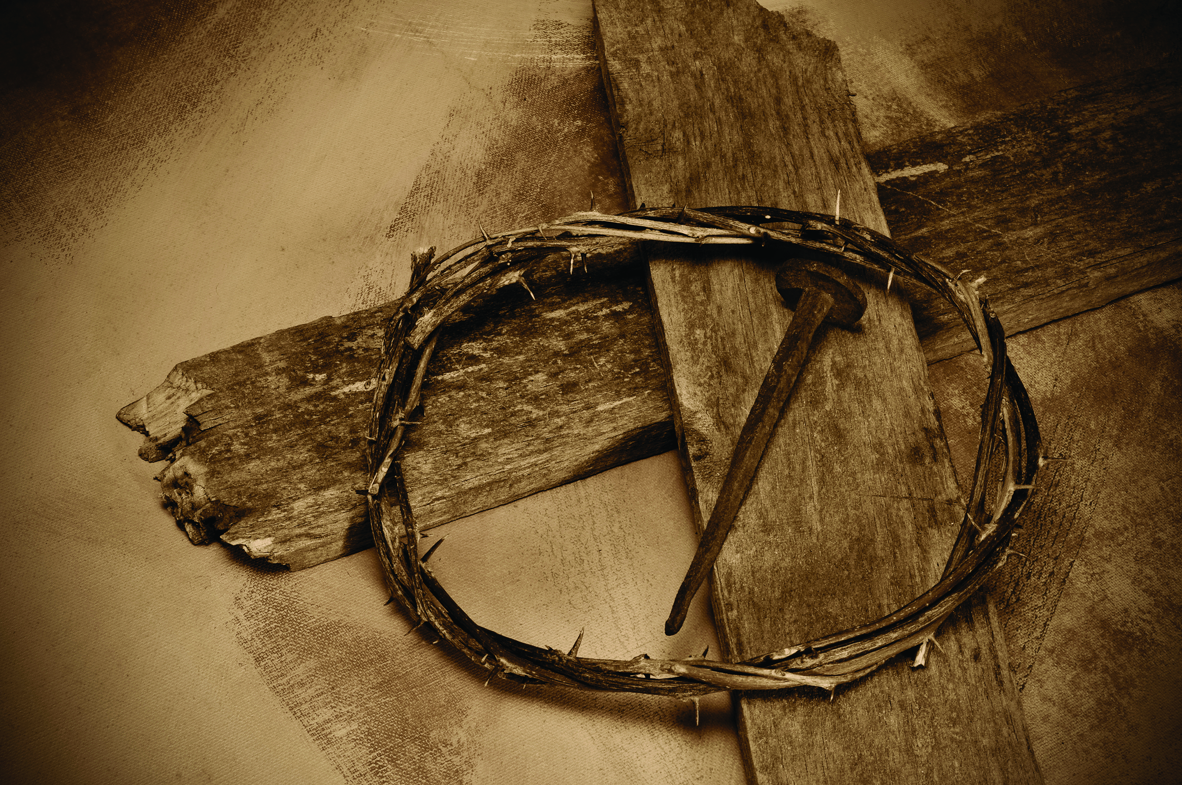 Christ Cross Nail And Crown Of Thorns